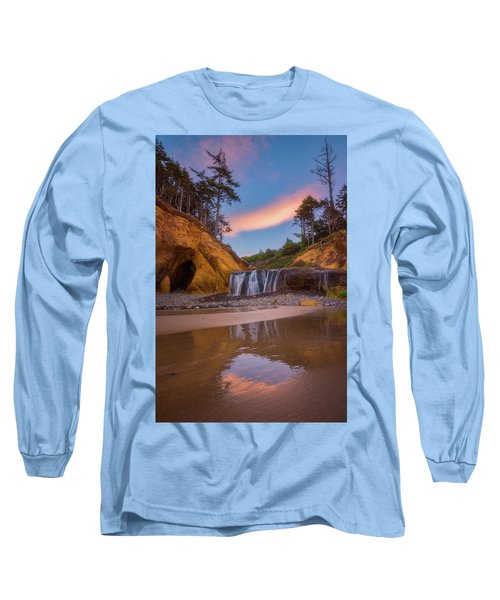 Long Sleeve T-Shirt featuring the photograph Sunrise Over Hug Point by Darren White