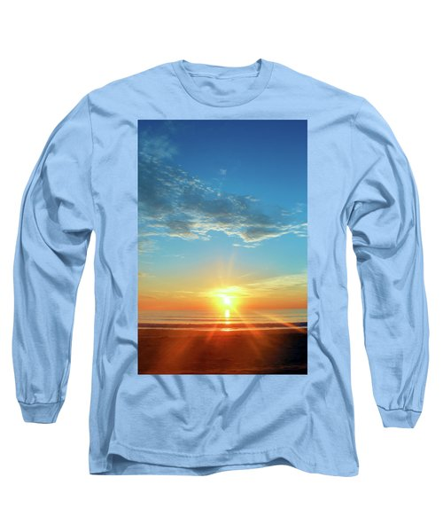 Sunrise With Flare Long Sleeve T-Shirt by David Stasiak