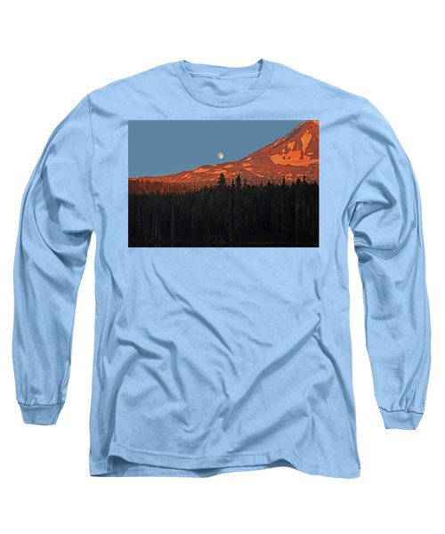 Sunset And Sunrise At Mt Adams Long Sleeve T-Shirt