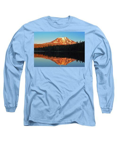 Long Sleeve T-Shirt featuring the photograph Sunset And Sunrise Mt Adams by Jack Moskovita