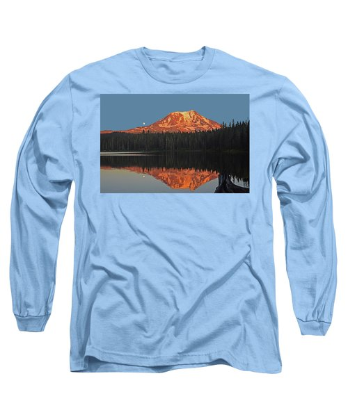 Long Sleeve T-Shirt featuring the photograph Sunset And Moonrise At Takhlakh Lake by Jack Moskovita