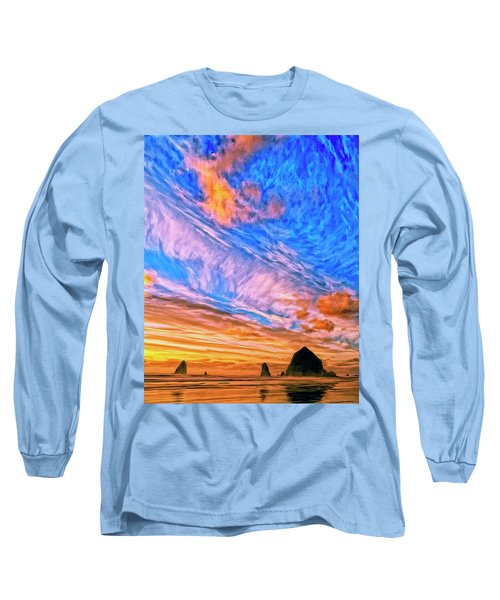 Sunset At Cannon Beach Long Sleeve T-Shirt