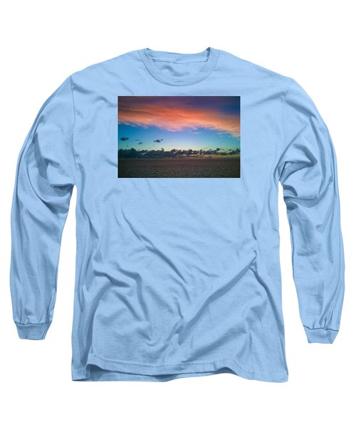 Sunset At Sea Long Sleeve T-Shirt by Matthew Bamberg