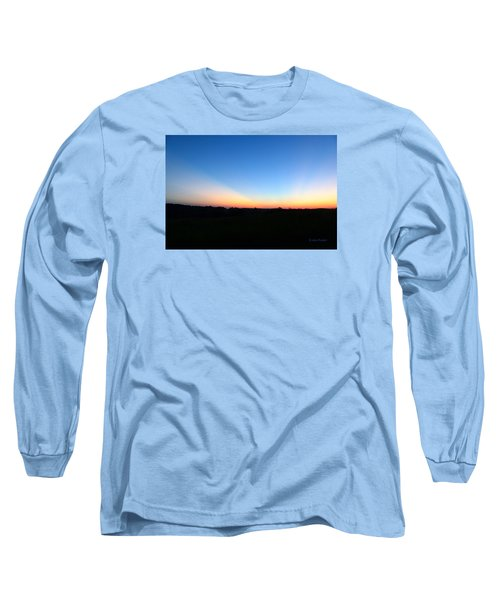 Sunset Blue Long Sleeve T-Shirt by Jana Russon