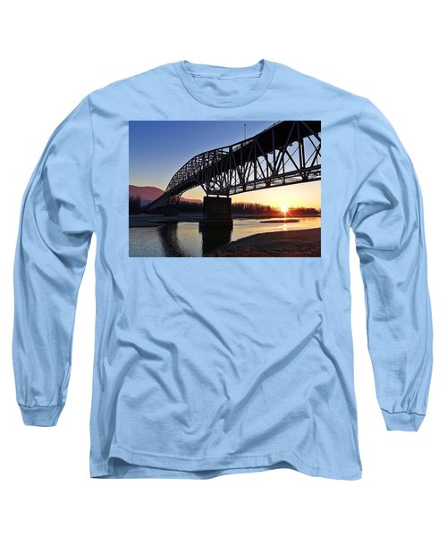 Fraser River, Bc  Long Sleeve T-Shirt by Heather Vopni