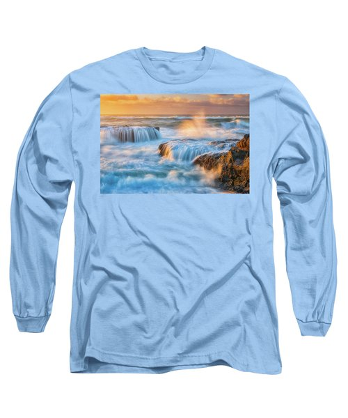 Long Sleeve T-Shirt featuring the photograph Sunset Fury by Darren White