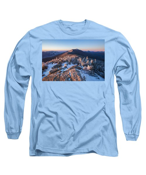 Sunset Glow On Franconia Ridge Long Sleeve T-Shirt
