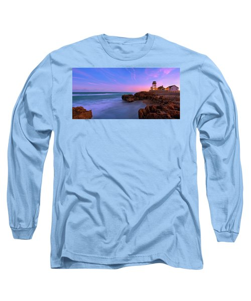 Sunset Over House Of Refuge Beach On Hutchinson Island Florida Long Sleeve T-Shirt