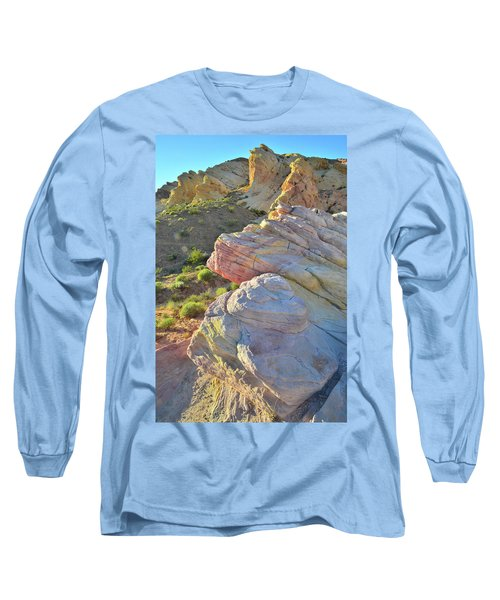 Sunset Pastels In Valley Of Fire Long Sleeve T-Shirt