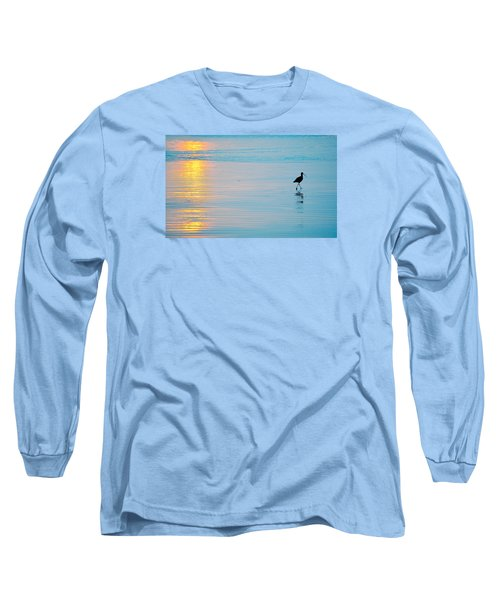 Long Sleeve T-Shirt featuring the photograph Sunset Stroll by AJ  Schibig