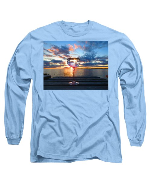 June Sunset On The River Long Sleeve T-Shirt
