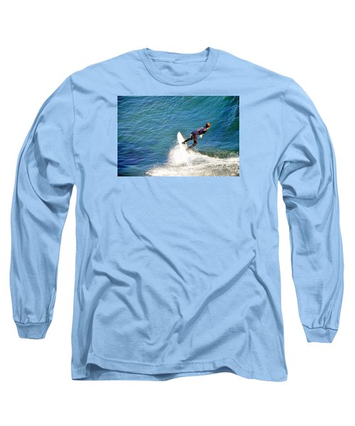 Surfer, Steamer Lane, Santa Cruz, Series 19 Long Sleeve T-Shirt by Antonia Citrino