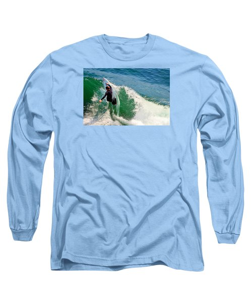 Surfer, Steamer Lane, Series 18 Long Sleeve T-Shirt by Antonia Citrino