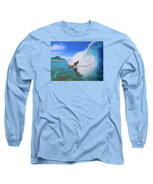 Surfing Dan Long Sleeve T-Shirt by Jane Girardot