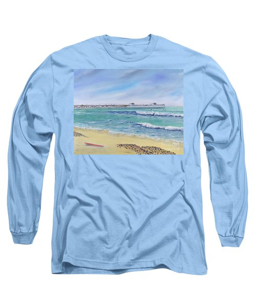 Surfing In San Clemente Long Sleeve T-Shirt