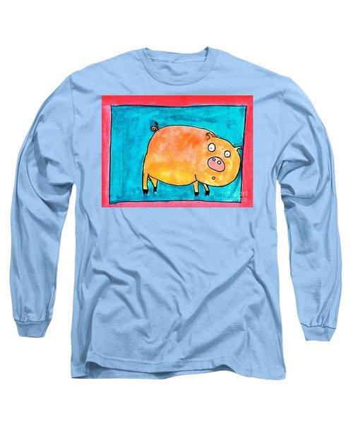 Surprised Pig Long Sleeve T-Shirt