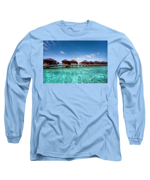 Long Sleeve T-Shirt featuring the photograph Surrounded By Blue by Jenny Rainbow