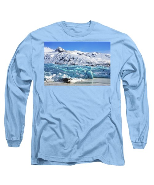 Long Sleeve T-Shirt featuring the photograph Svinafellsjokull Glacier Iceland by Matthias Hauser