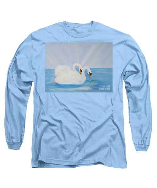 Swans On Open Water Long Sleeve T-Shirt
