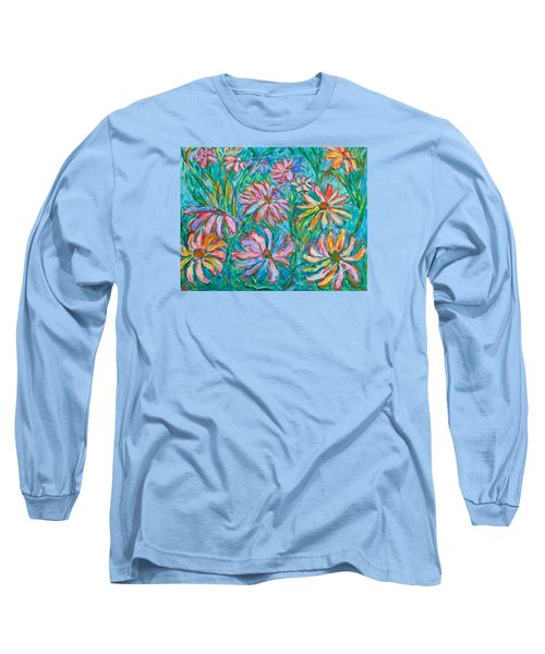 Long Sleeve T-Shirt featuring the painting Swirling Color by Kendall Kessler