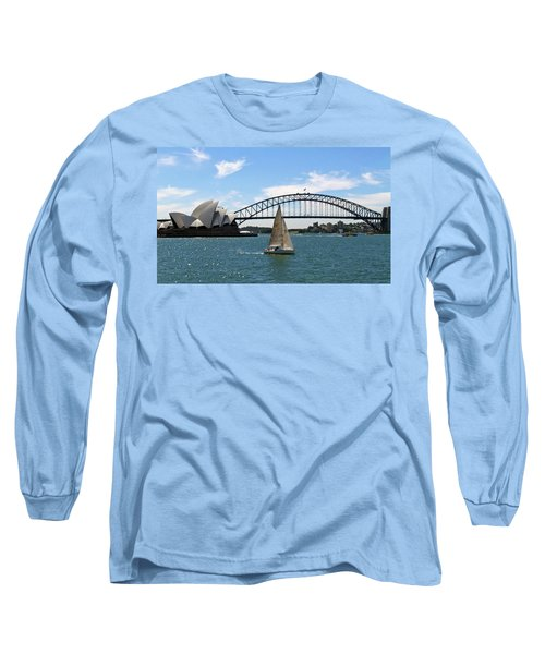 Sydney Harbour No. 1 Long Sleeve T-Shirt by Sandy Taylor