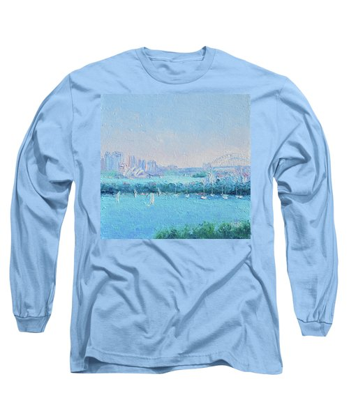 Sydney Harbour And The Opera House Long Sleeve T-Shirt by Jan Matson