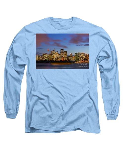 Sydney Harbour Sunset Long Sleeve T-Shirt