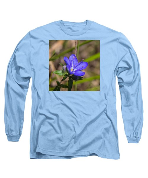 Tall Hydrolea Wildflower Long Sleeve T-Shirt by Christopher L Thomley