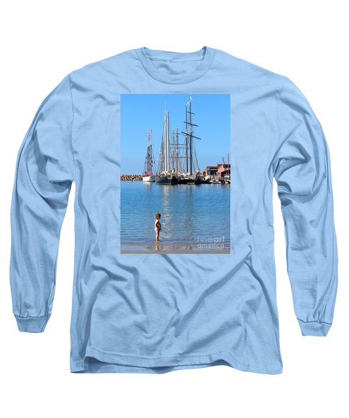 Tall Ship Festival Long Sleeve T-Shirt by Cheryl Del Toro