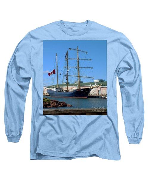 Tall Ship Waiting Long Sleeve T-Shirt by RC DeWinter