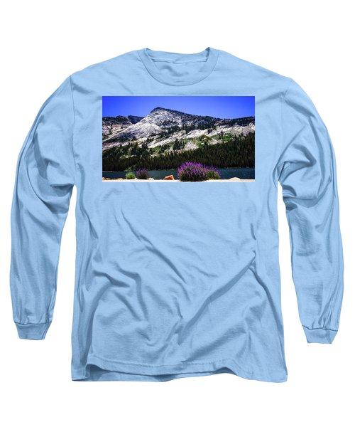 Tanaya Lake Wildflowers Yosemite Long Sleeve T-Shirt
