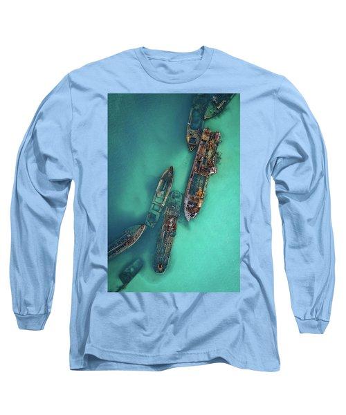 Tangalooma Wrecks Long Sleeve T-Shirt