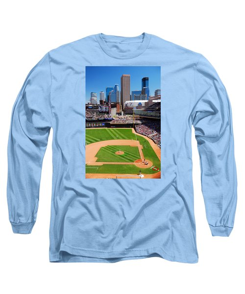 Target Field, Home Of The Twins Long Sleeve T-Shirt by James Kirkikis
