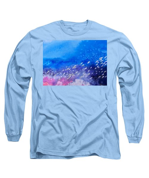 Long Sleeve T-Shirt featuring the painting Tavu Na  Siki by Ed Heaton