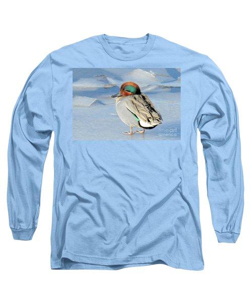 Teal On The Rocks Long Sleeve T-Shirt