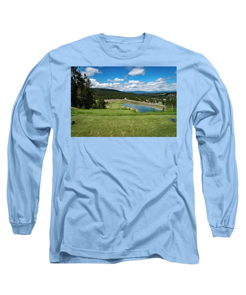 Long Sleeve T-Shirt featuring the photograph Tee Box With As View by Darcy Michaelchuk