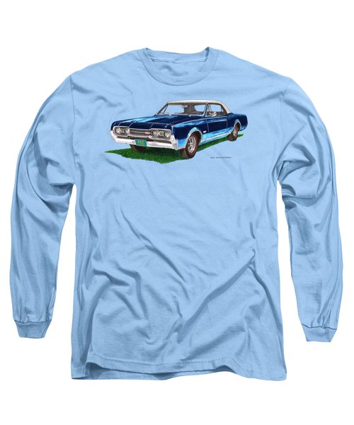 Tee Shirt Art 1967 Oldsmobile 4 4 2 Convertible Long Sleeve T-Shirt