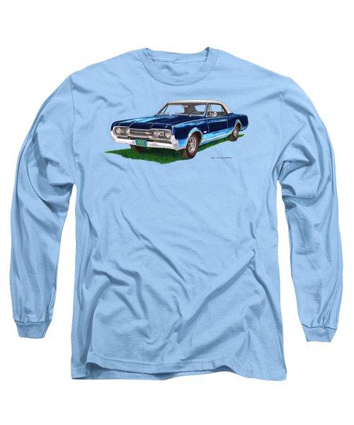 Tee Shirt Art 1967 Oldsmobile 4 4 2 Convertible Long Sleeve T-Shirt by Jack Pumphrey