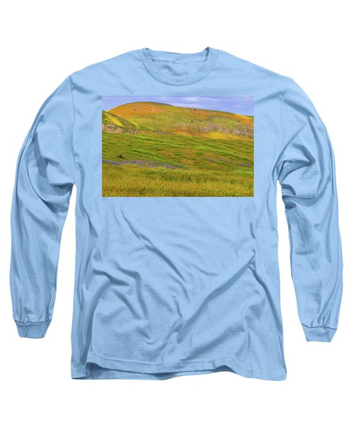 Long Sleeve T-Shirt featuring the photograph Temblor Range Spring Color by Marc Crumpler