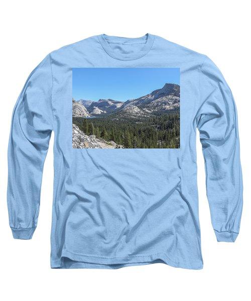 Tenaya Lake And Surrounding Mountains Yosemite National Park Long Sleeve T-Shirt