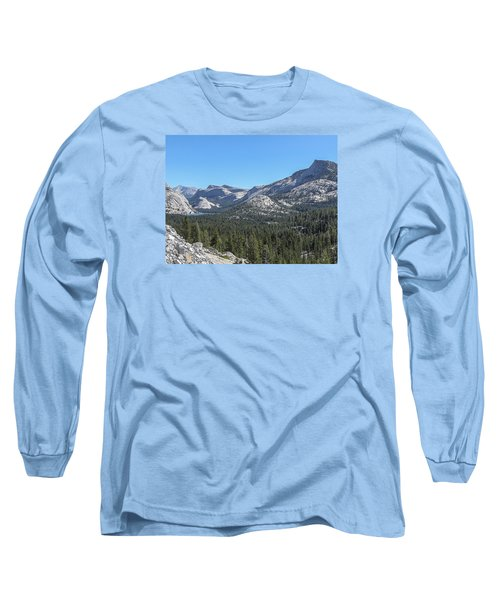 Tenaya Lake And Surrounding Mountains Yosemite National Park Long Sleeve T-Shirt