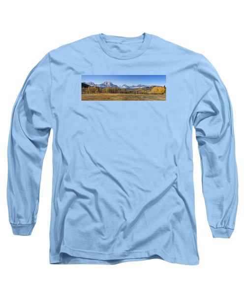 Teton Panorama Long Sleeve T-Shirt by Shirley Mitchell