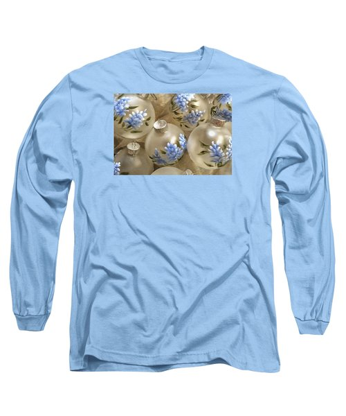 Long Sleeve T-Shirt featuring the photograph Texas Bluebonnet Ornaments by Betty Denise