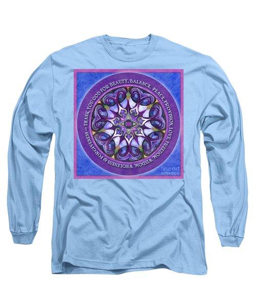 Thank You God Mandala Prayer Long Sleeve T-Shirt