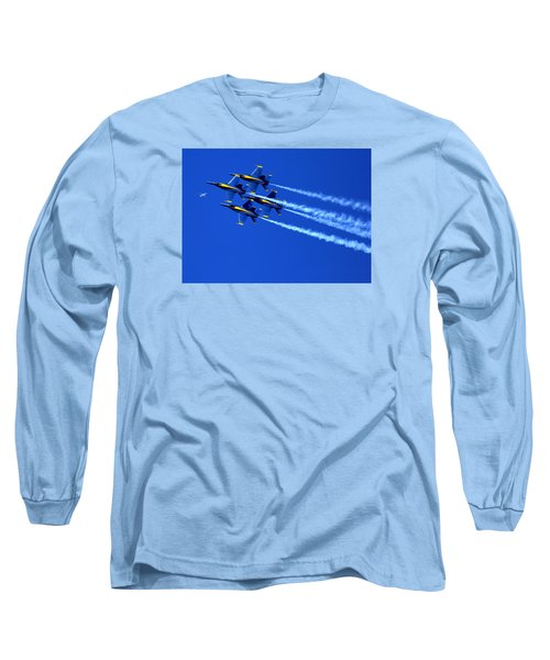 Thanks Goodness For That Fourth Dimension As A Boeing 767 Transitions Above The Box. Long Sleeve T-Shirt