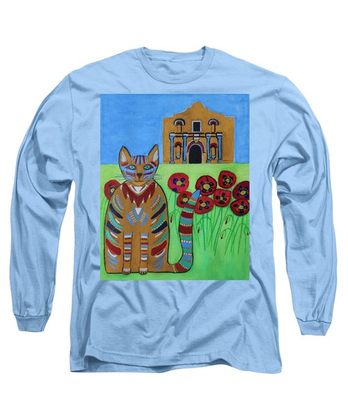 the Alamo Cat Long Sleeve T-Shirt