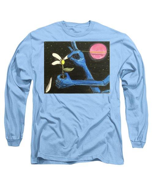 The Alien Loves Me... The Alien Loves Me Not Long Sleeve T-Shirt
