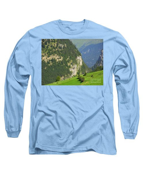 The Alps In Spring Long Sleeve T-Shirt