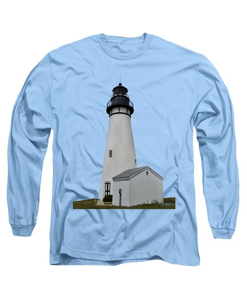 The Amelia Island Lighthouse Transparent For Customization Long Sleeve T-Shirt by D Hackett
