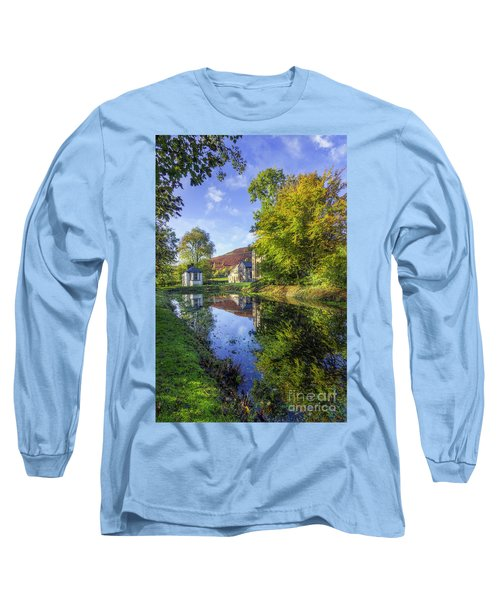 The Autumn Pond Long Sleeve T-Shirt by Ian Mitchell